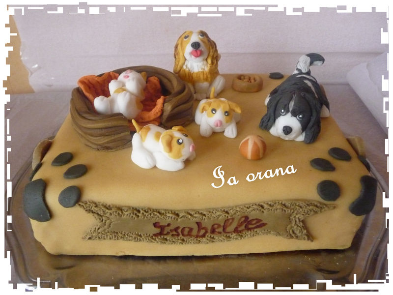 Gâteau chiens/Dog cake