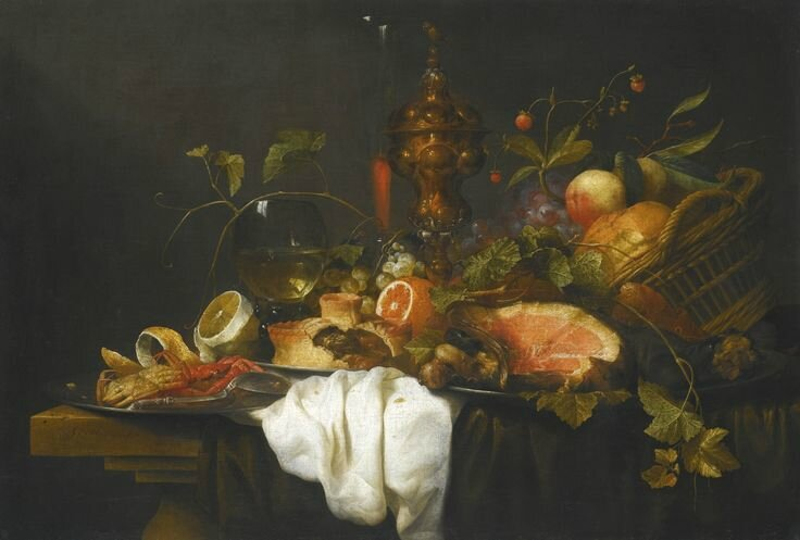 Joris van Son (Antwerp 1623 - 1667), A 'Pronk' still life of fruits in a basket