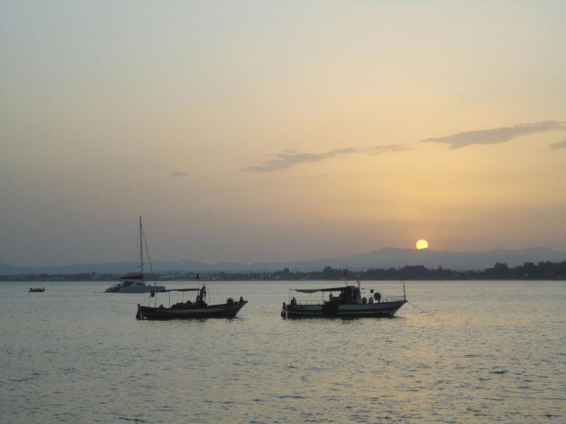 Le coucher de soleil du jeudi 4 août 2011