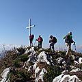 Roche blanche 1241 m de montgelas - curienne (savoie) bauges