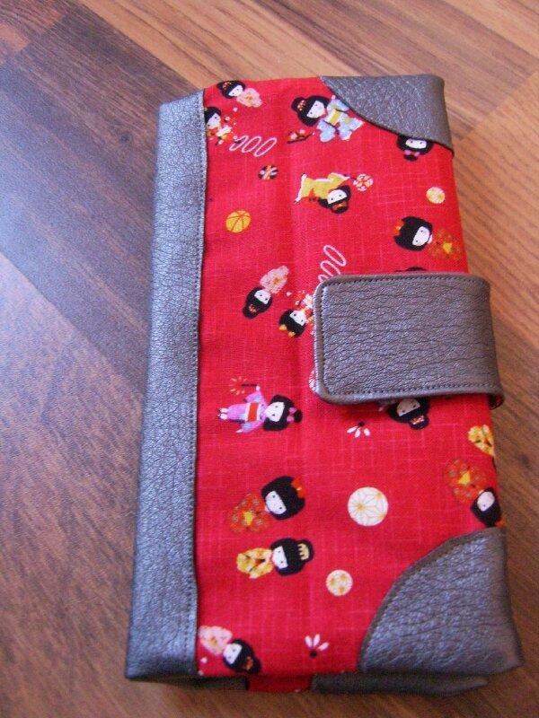 porte chéquiers tissu japonais3