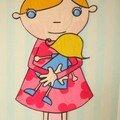 panneau mural fillette