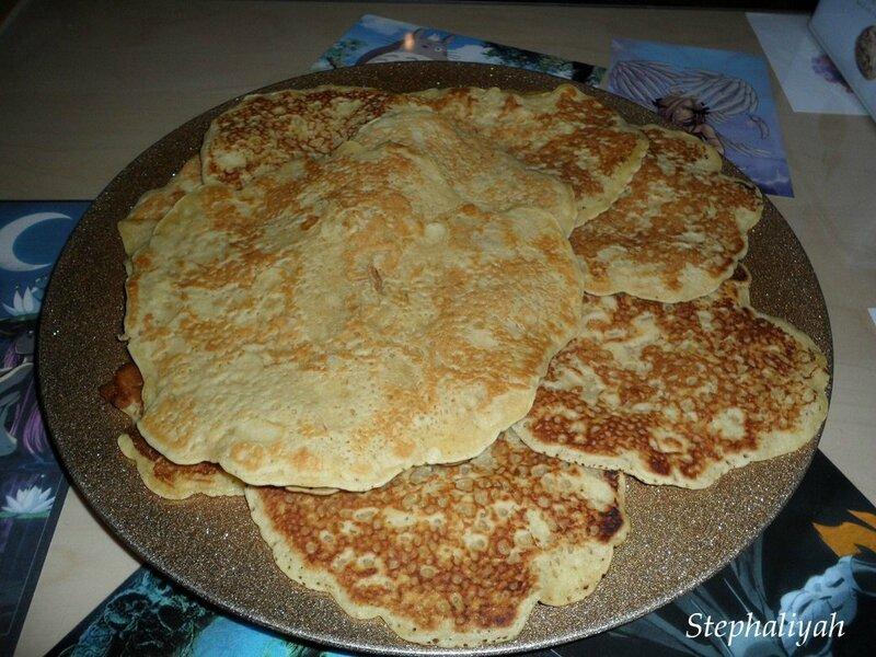 Pancakes lait de coco et amandes effilées -- 9 mars 2015