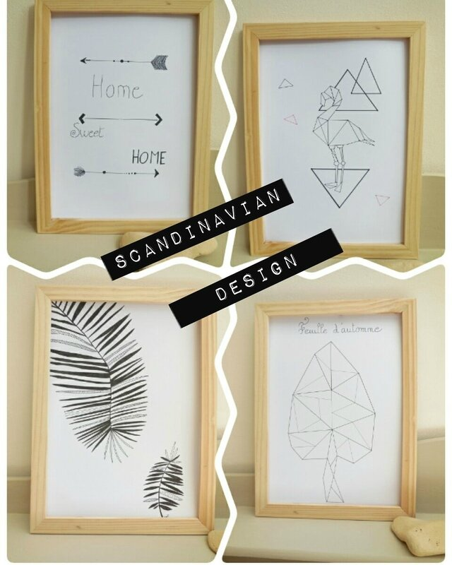Affiches originales style scandinave