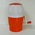 Objet vintage ... pileur de glace * orange et blanc