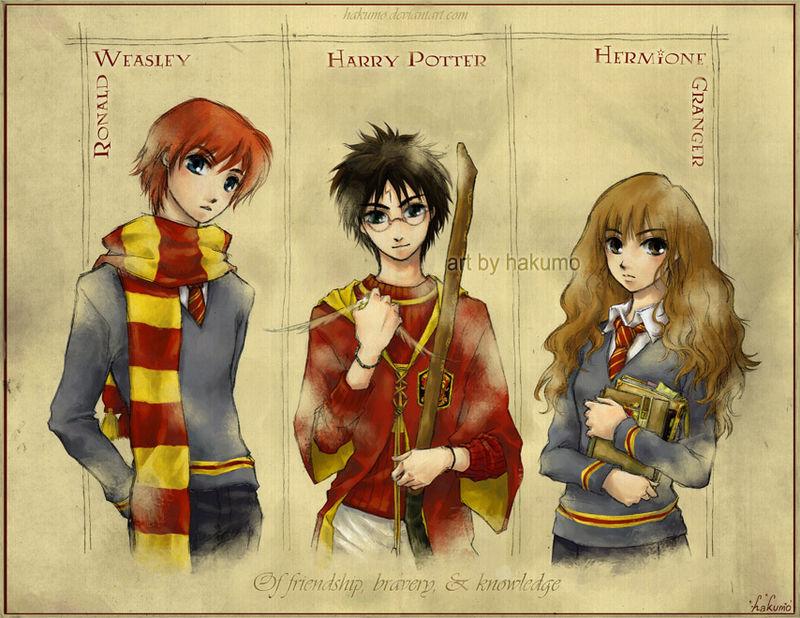 Le Blog De Sakura Harry Potter Trio Fan Art