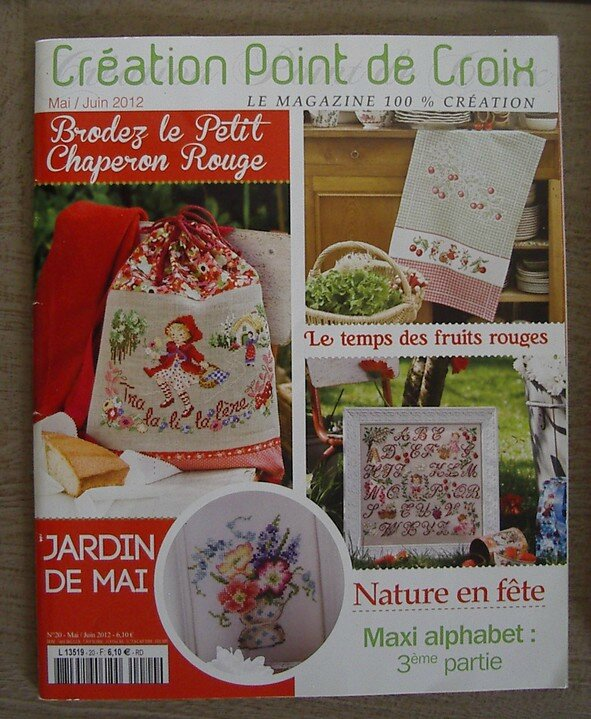 livre creation point croix n°20 en mai 2012