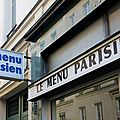Menu parisien 1