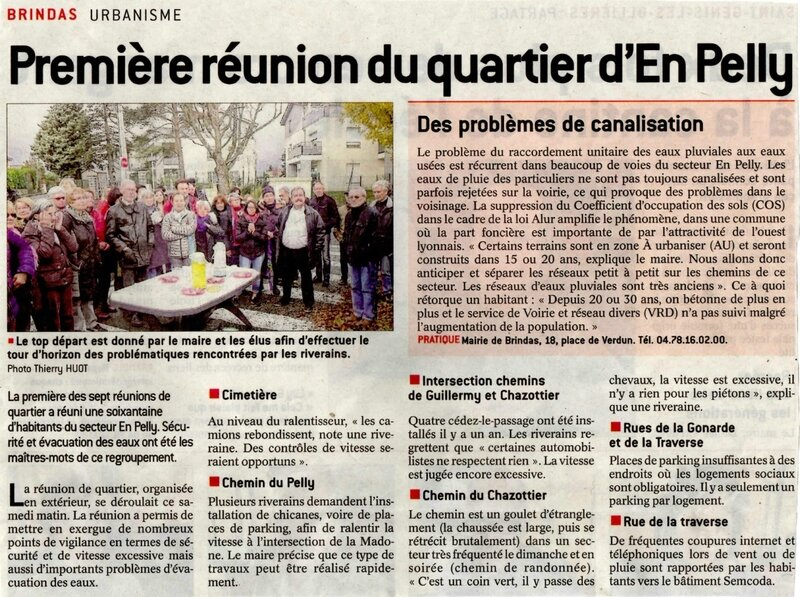 article Progrès 26 nov CR réunion de quartier En Pelly