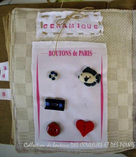8 bouton en céramique