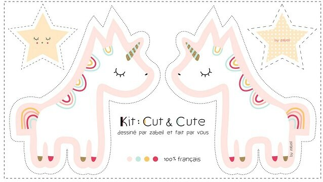 kit cute licorne rose-by zabeil