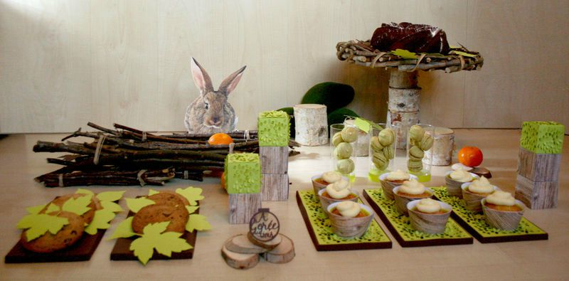 Sweet table decorations pour table gourmande theme noel - Decoration de table nature ...