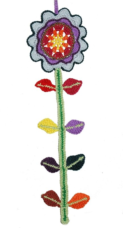 Fleur au crochet suspention