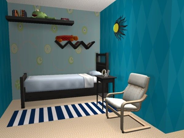 villa lilloise maisons deco sims2. Black Bedroom Furniture Sets. Home Design Ideas