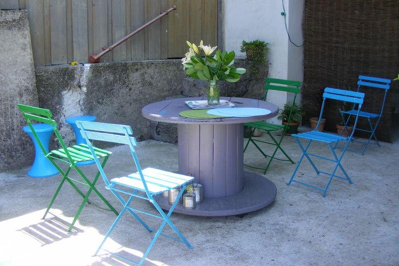 Touret Bois Table De Jardin Des Id Es