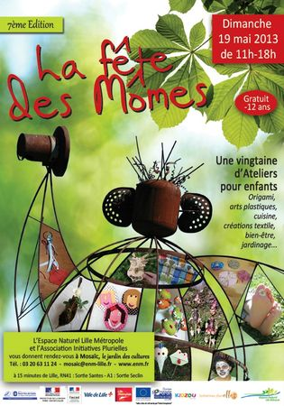 AFFICHE-FETE-DES-MOMES-2013-mary-du-pole-nord-owly-mary-jardin-mosaic-houplin-ancoisnes