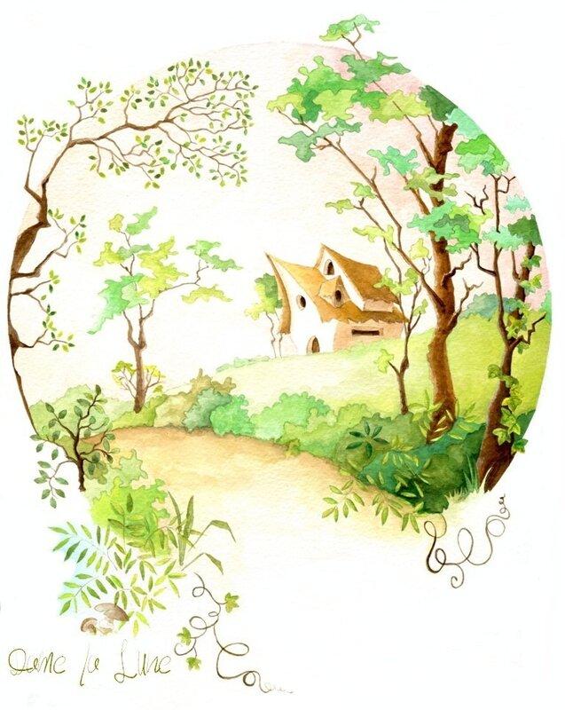 1_conte_de_Grimm_Dame_la_Lune_Hansel _&_Grethel_Illustration