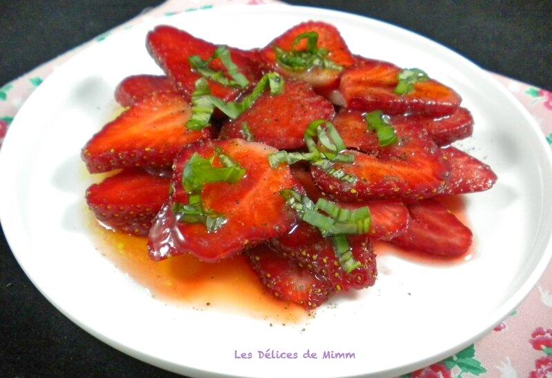 Carpaccio de fraises tout simple 2