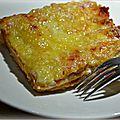Lasagnes à la béchamel aux fromages et sauce tomates