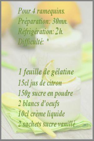 recette crème citron