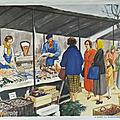 Collection ... affiche chez la marchande de poissons / la menuiserie