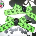 Commande de Gawelle: barrettes Princess Green Zombie black skulls