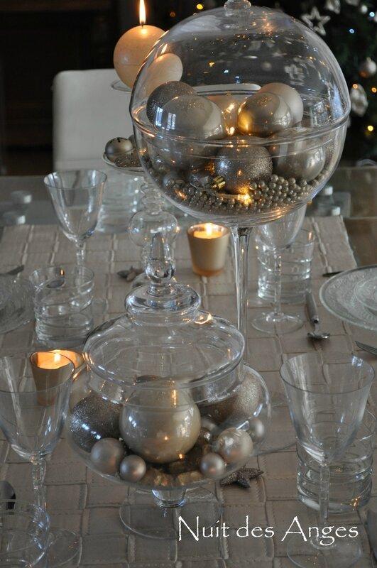 Nuit des anges décoratrice décoration de table dorée 017