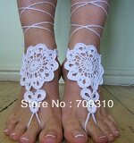 Free-Shipping-ChaoShan-Barefoot-Sandals-Kenmare-Lace-Nude-shoes-Foot-jewelry-Wedding-Sexy-Yoga-Steampunk-Bracelet