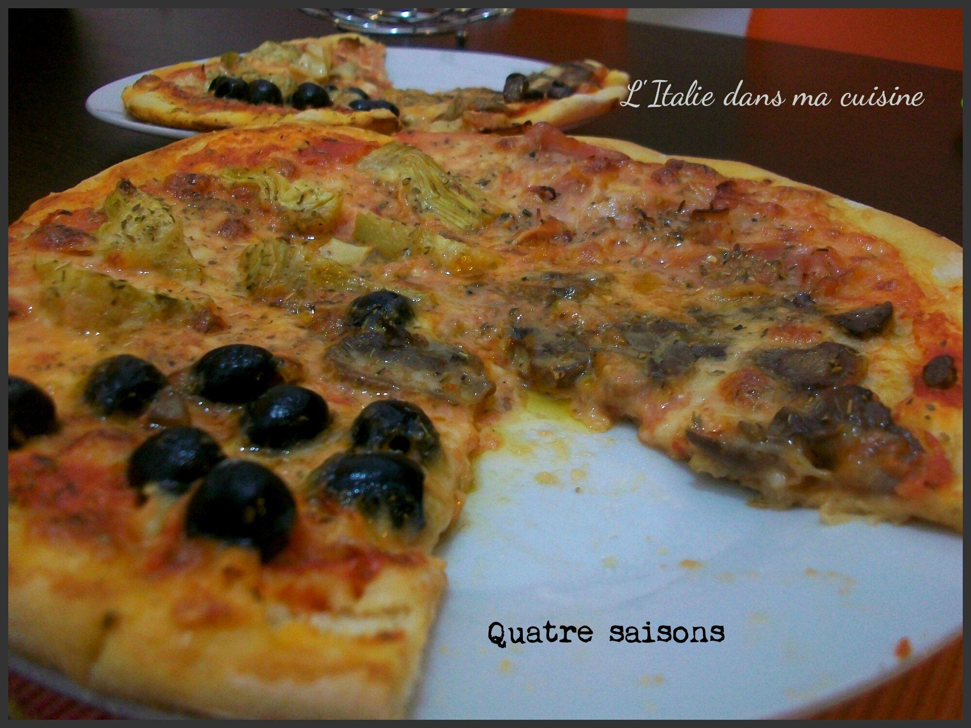 pizza quatre saisons l 39 italie dans ma cuisine. Black Bedroom Furniture Sets. Home Design Ideas