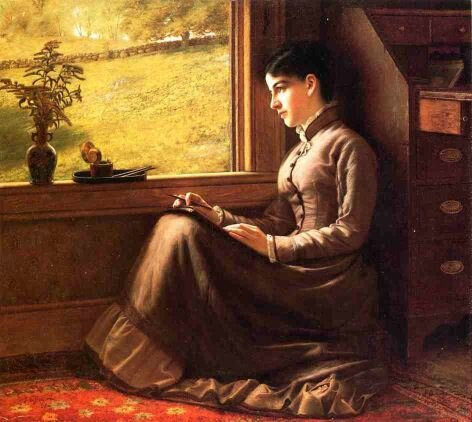Brown John small_young-woman-seated-at-the-window