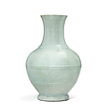 A rare and important ru-type glazed vase, hu, yongzheng six-character seal mark in underglaze blue and of the period(1723-1735)