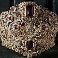 Queen therese's ruby and spinel diadem, a gift from her husband king ludwig i of bavaria