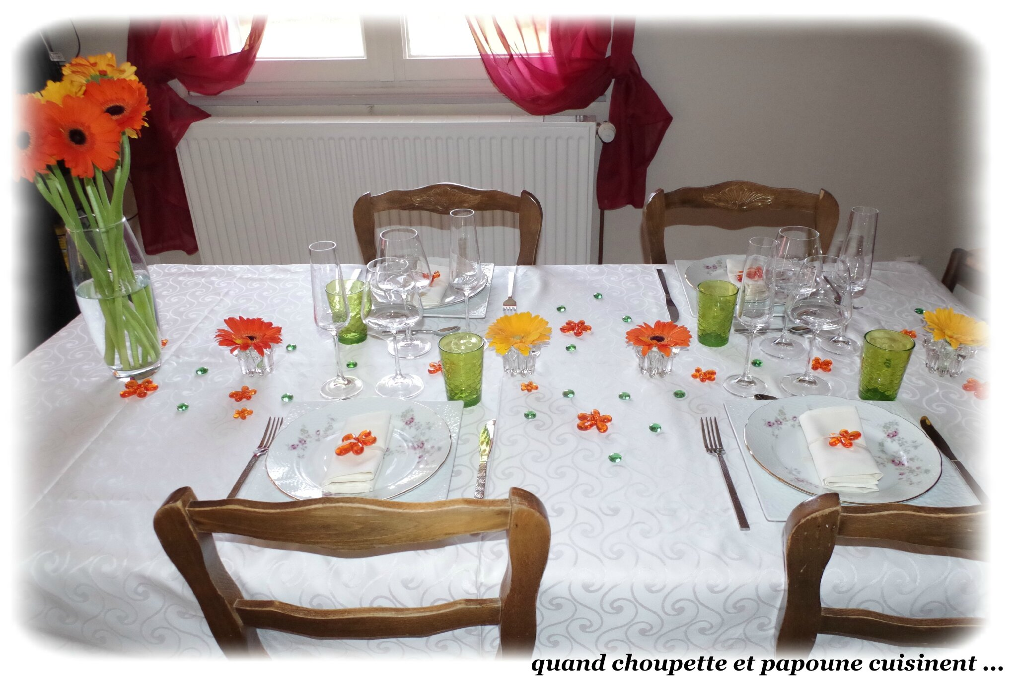 MA TABLE GERBERA