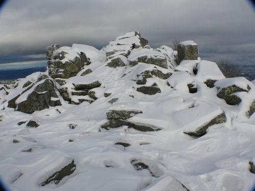 2008 10 30 Rochers du Lizieux sous la neige
