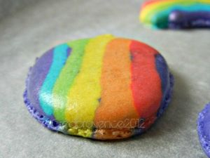 rainbow macaron