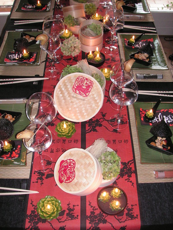 Table diner p kin a table c t d co - Deco table nouvel an chinois ...