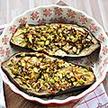 Aubergines rôties au four, pistaches et miel d'acacia {recette}