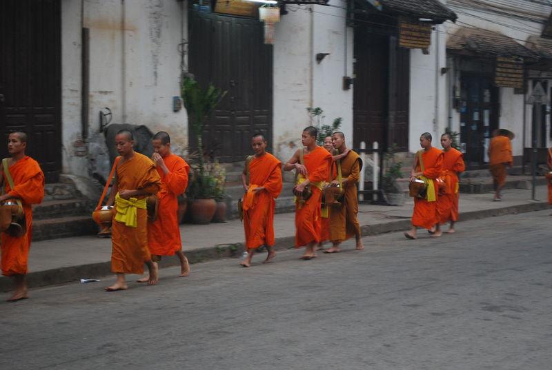 Tournee_d_Aumone__petit_matin__Luang_Prabang