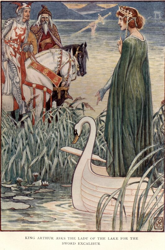 CRANE_King_Arthur_asks_the_lady_of_the_lake_for_the_sword_Excalibur