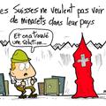 Suisse, vote, minarets, contre et les suisses coffres rient