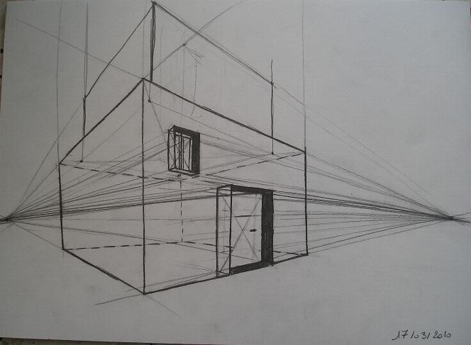 Perspective Point De Fuite Meuble : Chambre en perspective avec point de fuite solutions