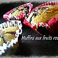 Muffins aux fruits rouges au thermomix ou pas