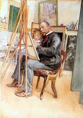 Carl Larsson - vus dans le miroir