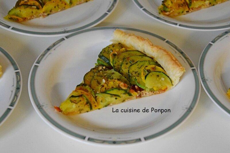 tarte aux courgettes et efilochés (6)