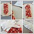 Feuillete aux fraises - frutillas en masa de hojaldre