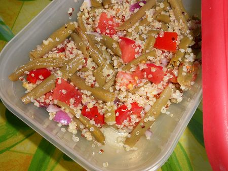 Salade quinoa haricots verts