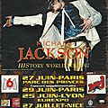 History world tour paris - publicité 1997