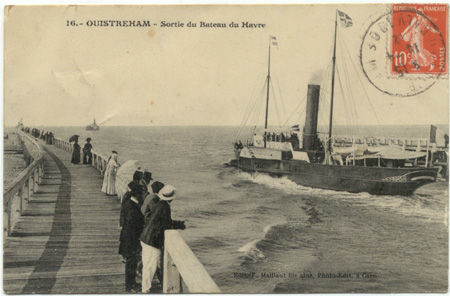 14 - OUISTREHAM - Sortie du bateau du Havre