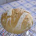 Le pain boule fait maison