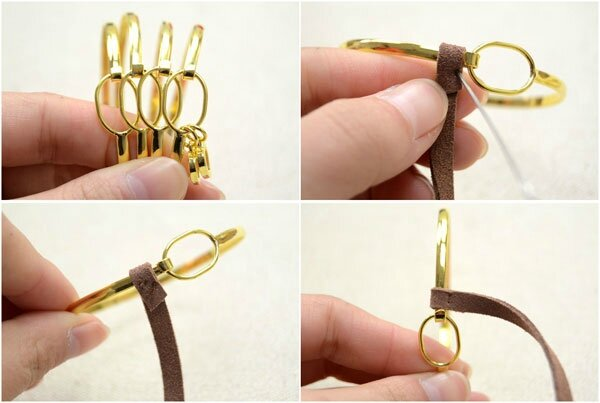 Cool-Ways-to-Make-Stacked-4-in-1-Wide-Metal-Cuff-Bracelets-with-Suede-Cord-step2-1